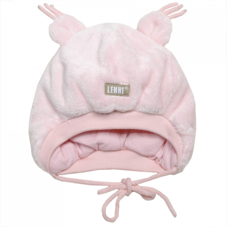 Lenne Berna Knitted hat pink Bērnu silta plīša cepure