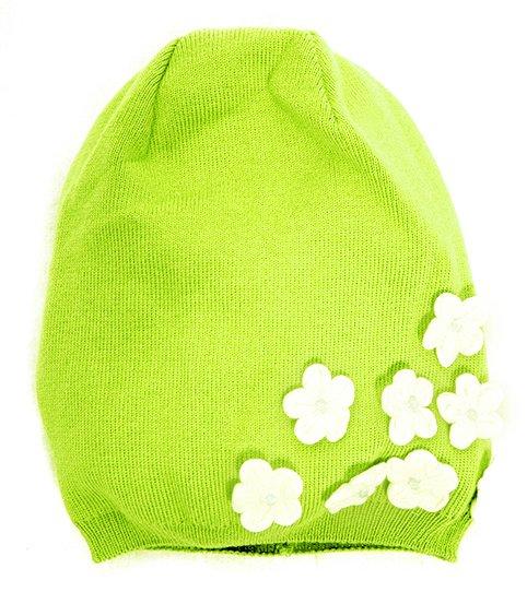 Lenne Blossom Knitted cap Mazuļu adīta kovilnas cepure sasienamā
