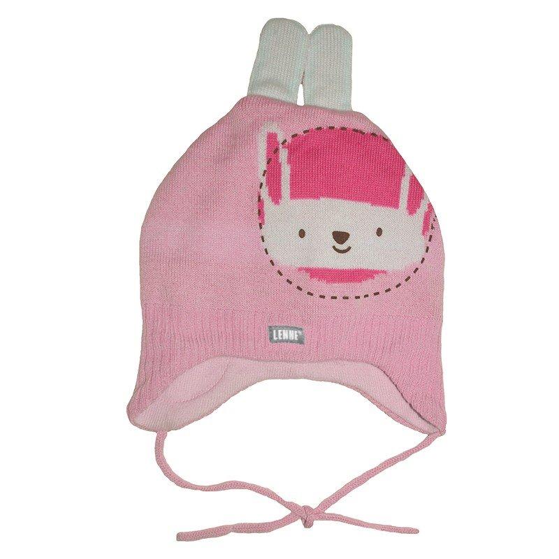 Lenne Bunny Mazuļu adīta pusvilnas cepure sasienamā