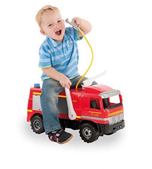 Liela ugunsdzēsēju mašīna ar ūdens pumpi 64 cm slodze līdz 100 kg (kastē)  LENA MAXI L02058