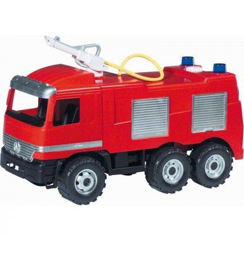 Liela ugunsdzēsēju mašīna ar ūdens pumpi, slodze 100kg, 64cm LENA MAXI L02028