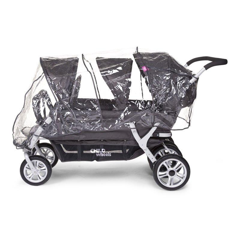 Lietus aizsargpārvalks ratiņiem CHILDHOME Childwheels Sixseater