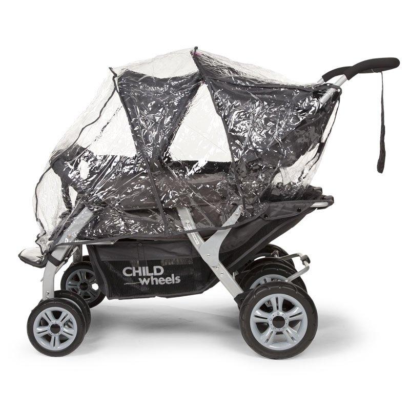 Lietus aizsargpārvalks ratiņiem CHILDHOME Childwheels Quadruple 2