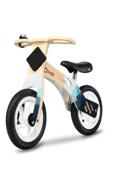 Lionelo Balance Bike Willy Air   Bērnu skrējritenis ar koka rāmi