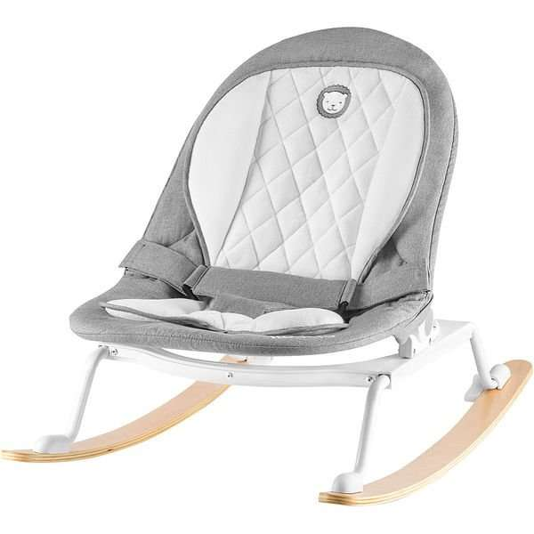 Lionelo Rosa Stone Grey/White Šūpuļkrēsls ar apgriežamo sēdekli