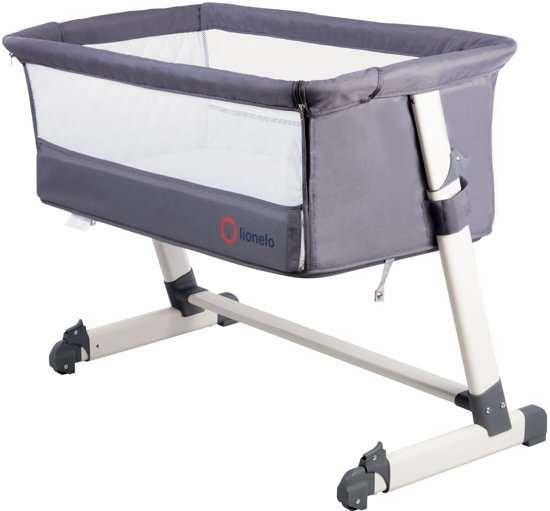 Lionelo Theo Dark Grey Bērnu gultiņa