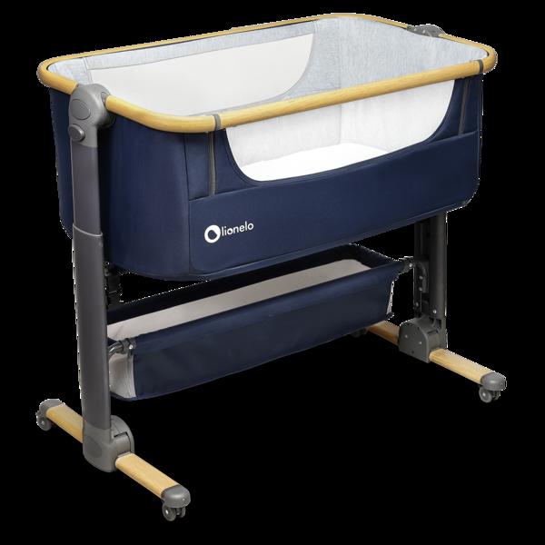 Lionelo TIMON 3in1 Navy Blue Bērnu Ceļojumu gulta Manēža