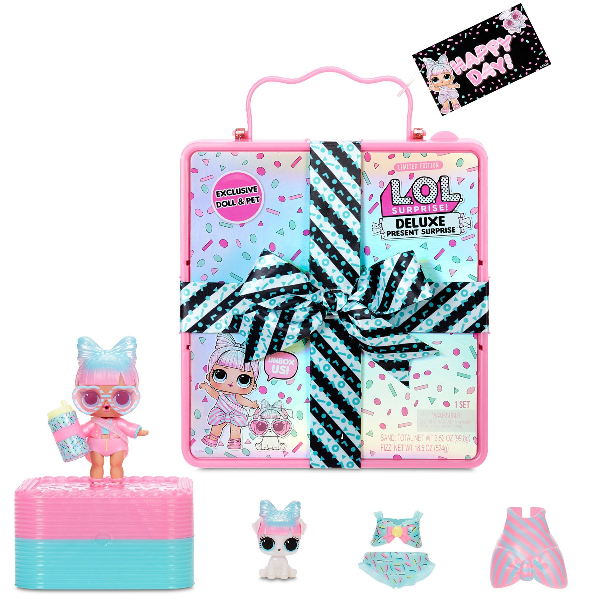 LOL Surprise MGA Deluxe Present Pink pārsteiguma komplekts