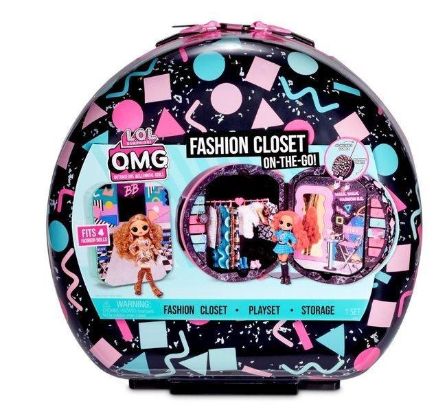 LOL Surprise OMG Fashion Closet On-the-Go Čemodāns-skapis uz riteņiem
