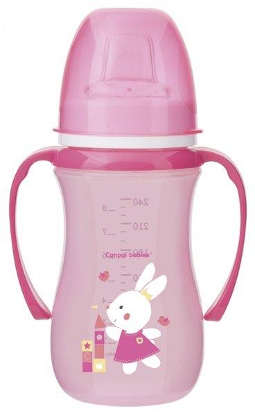 Mācību krūze 240 ml Canpol EASY START 38/208 pink