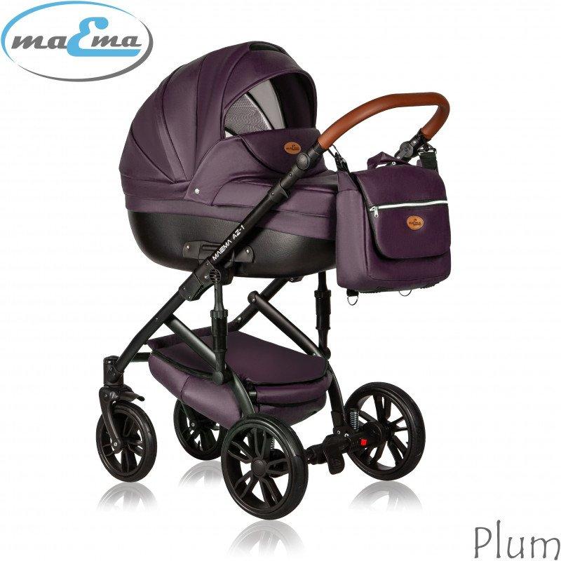 Maema AZ1 Plum Bērnu rati 3in1