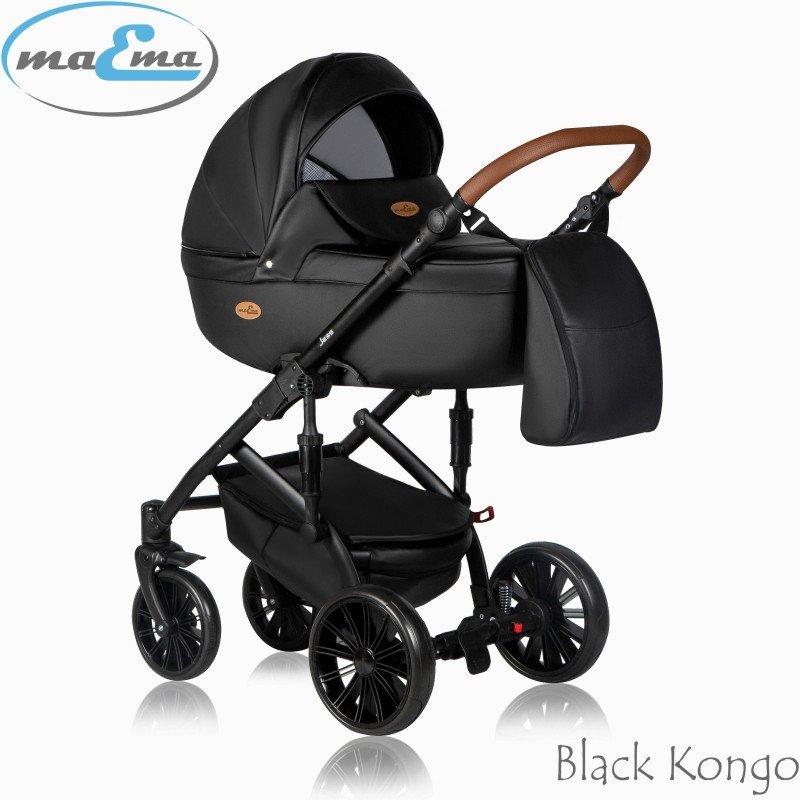 Maema Jess Black Kongo Bērnu rati 3in1