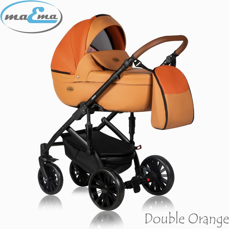 Maema Jess 3in1 Double Orange Bērnu ratiņi 3 in 1
