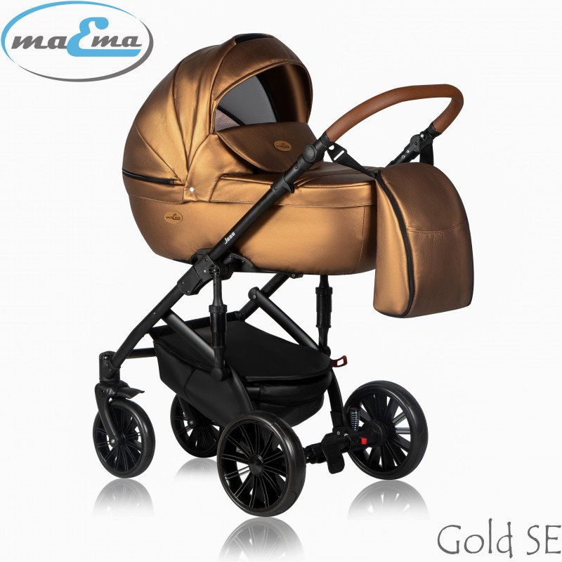 Maema Jess Gold SE Bērnu rati 3in1