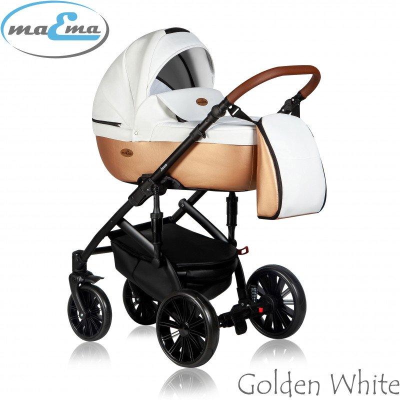 Maema Jess 3in1 Golden White Bērnu ratiņi 3 in 1