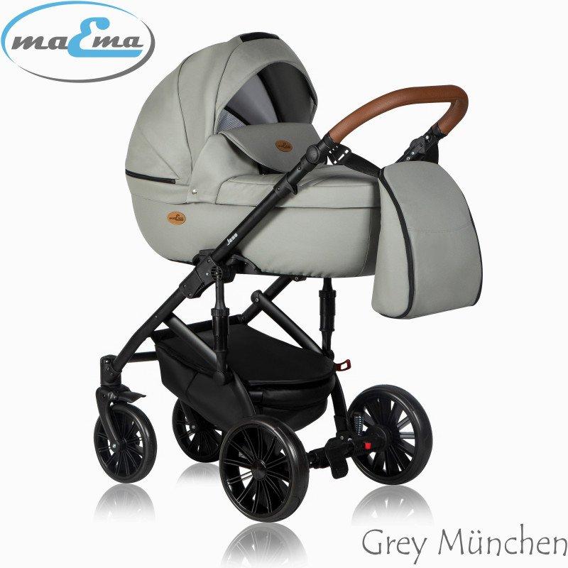 Maema Jess Grey München Bērnu rati 3in1