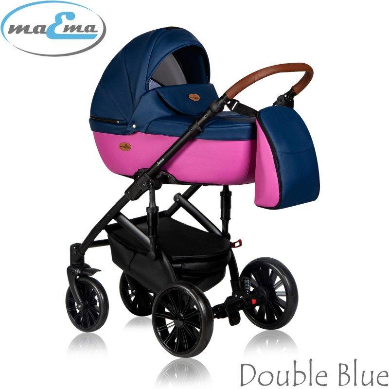 Maema Jess Double Blue Bērnu rati 3in1