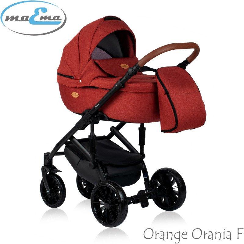 Maema Jess Orange Orania F Bērnu rati 3in1