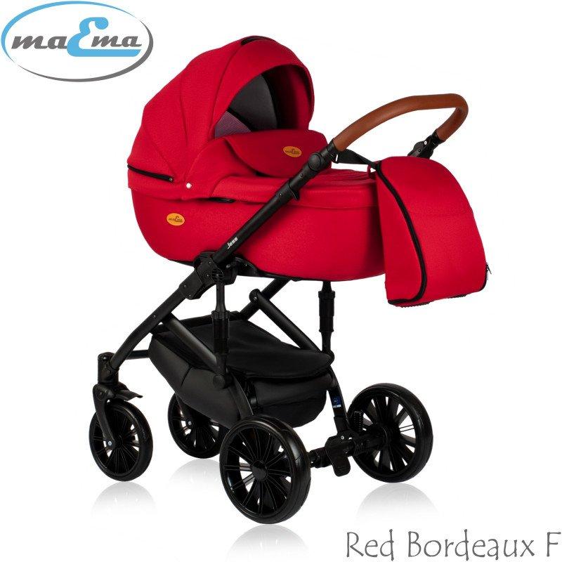 Maema Jess Red Bordeaux F Bērnu rati 3in1