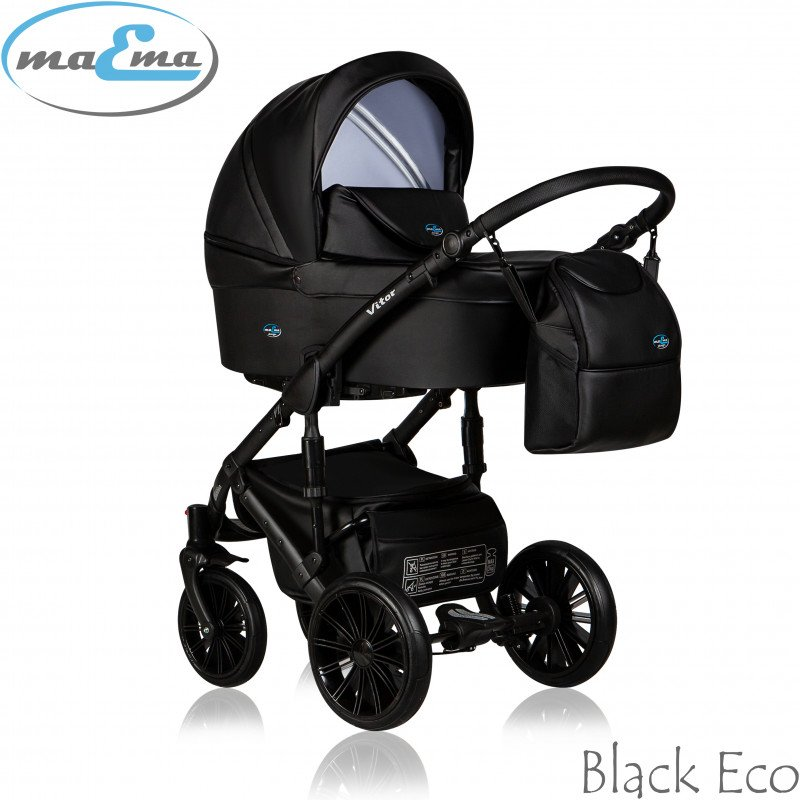 Maema Vitor 3in1 Black Eco Universālie rati 3 vienā