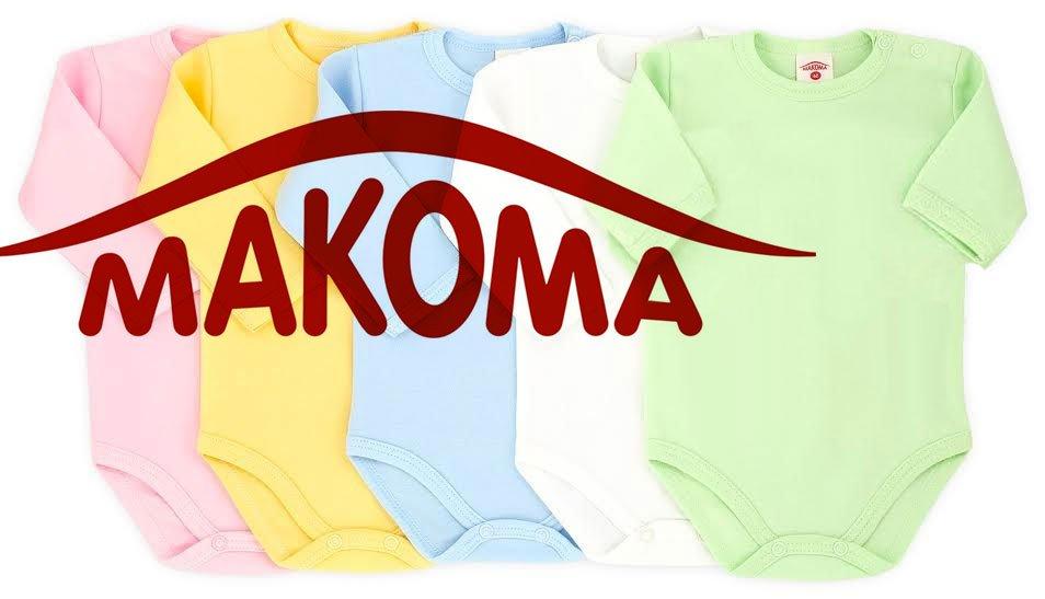 Makoma Basic Zīdaiņu bodiji ar īsām piedurknēm