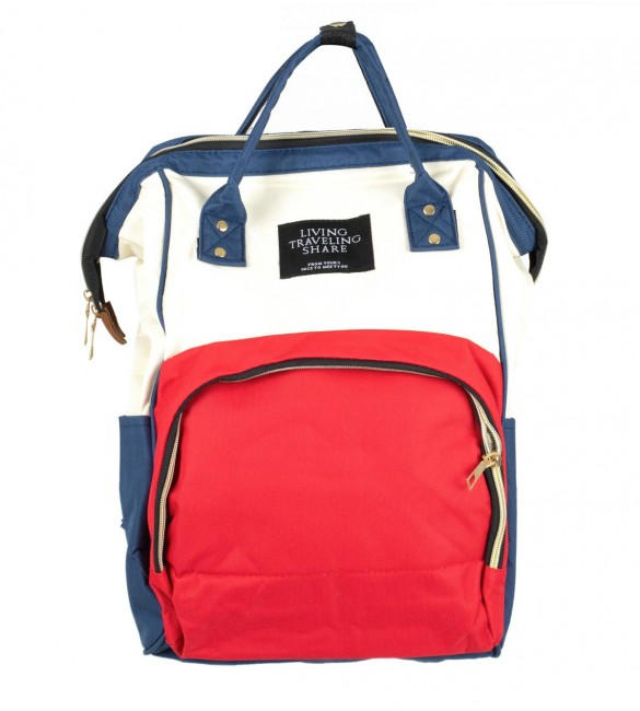 Māmiņas mugursoma - ratiņu soma 3in1 RED/WHITE 6810/3