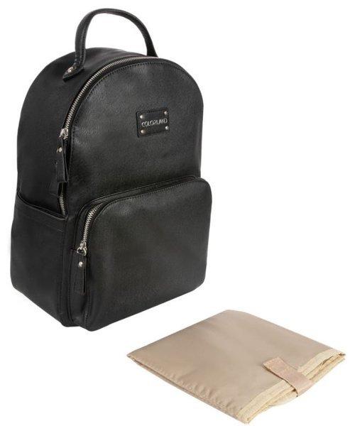 Māmiņas mugursoma - ratiņu soma Canpol Babies Black gold zipp