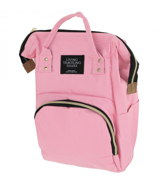 Māmiņas mugursoma - ratiņu soma PINK 6810