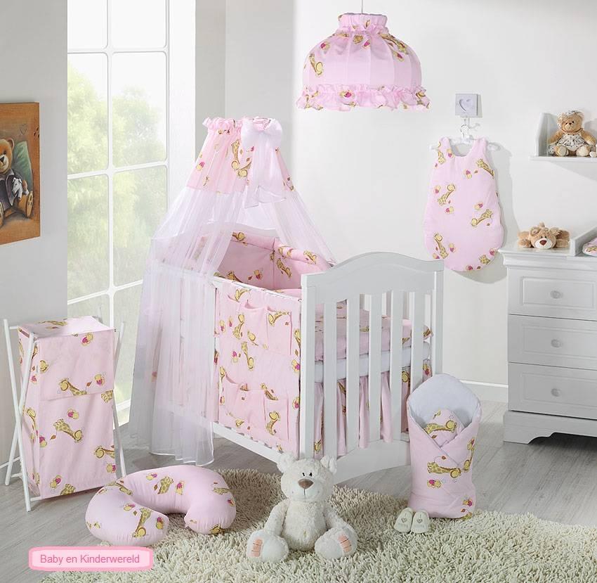 Mamo Tato Col. Pink Kokvilnas gultas veļas komplekts no 4 daļām (60/90x120 cm)