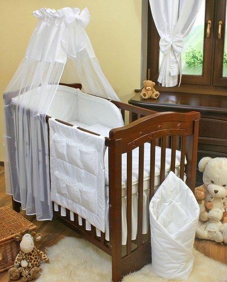 Mamo Tato Col. White Kokvilnas gultas veļas komplekts no 4 daļām (60/90x120 cm)