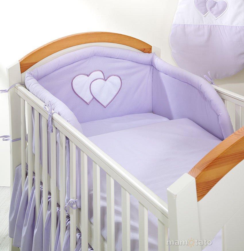 Mamo Tato Heart Col. Lavender Gultas apmale (70x140 cm)