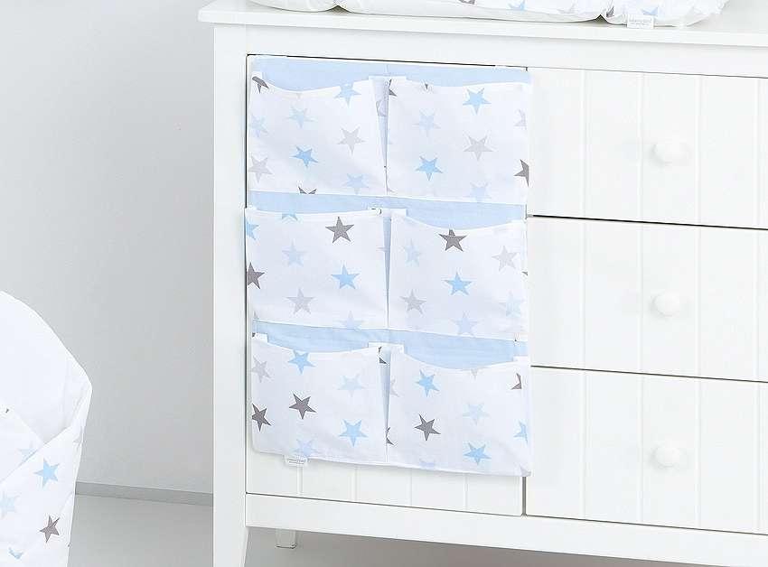 Mamo Tato Stars Blue Mantu kabata gultiņai (40x65 cm)