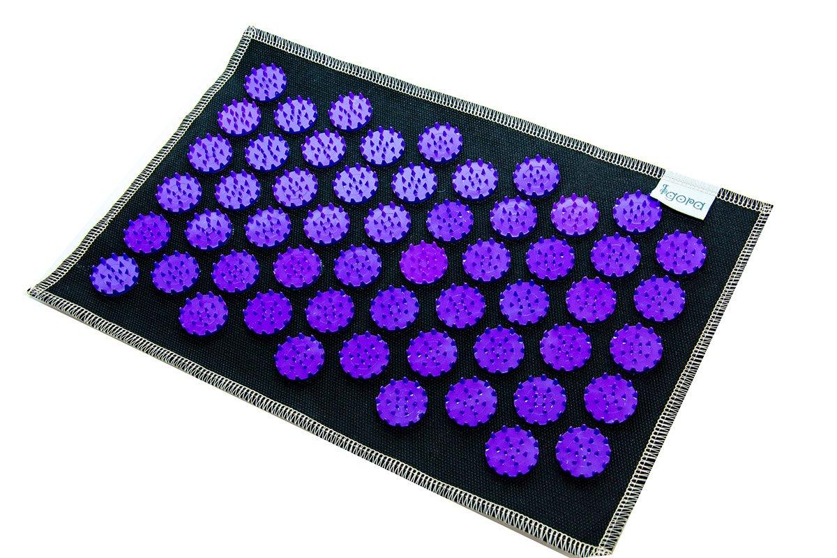 Masāžas akupresūras paklājs ar adatām Igora AIR 55 x 40 cm Purple