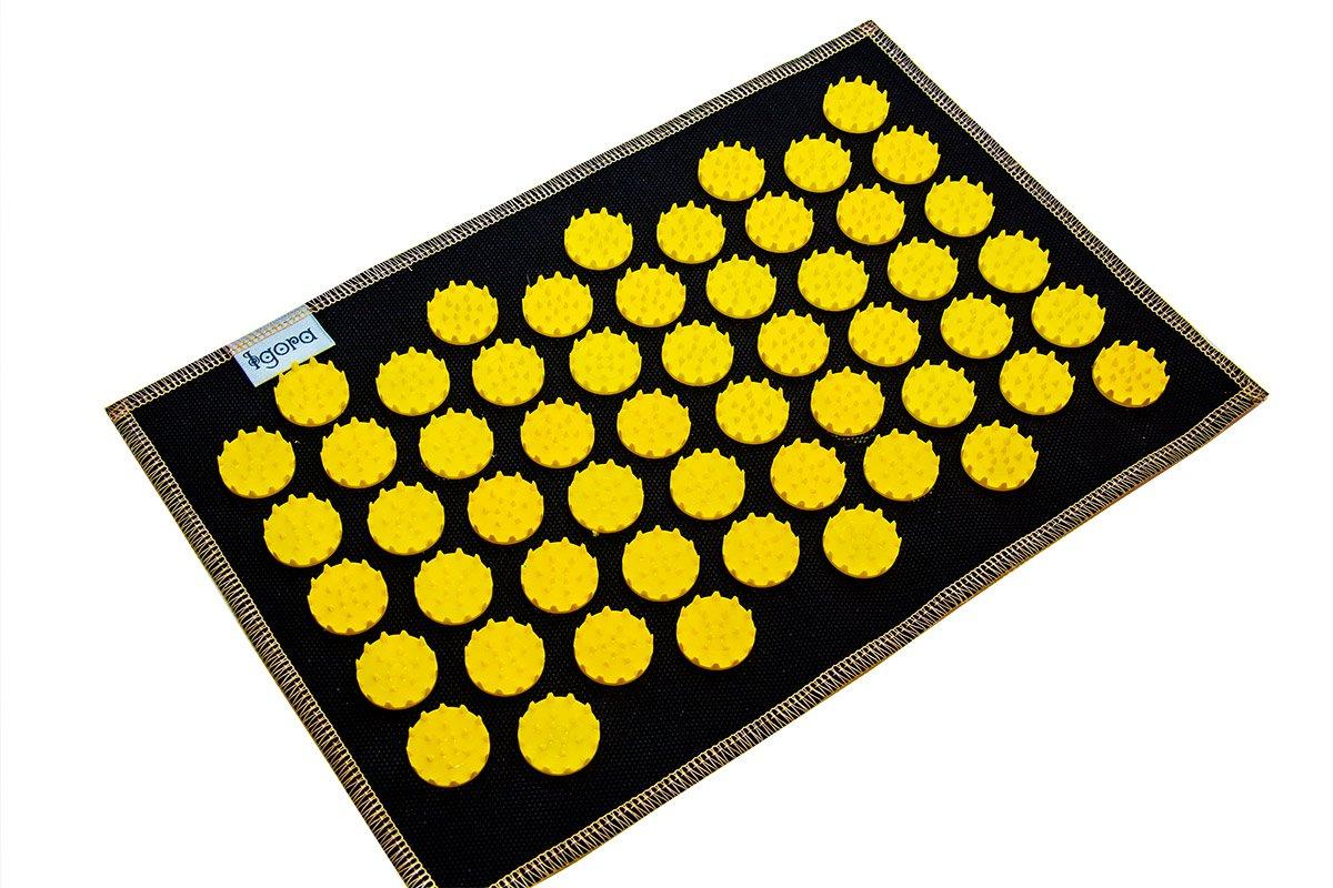 Masāžas akupresūras paklājs ar adatām Igora AIR 55 x 40 cm Yellow