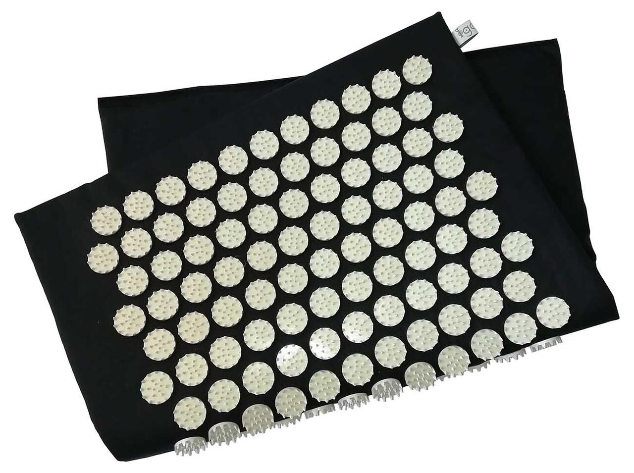 Masāžas akupresūras paklājs ar adatām Igora RELAX medium 70х40 cm Black