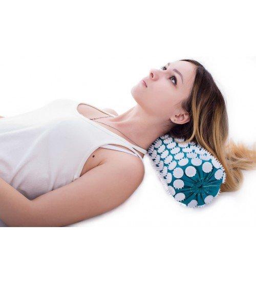 Masāžas akupresūras veltnis ar adatām 38х13 cm Turquoise