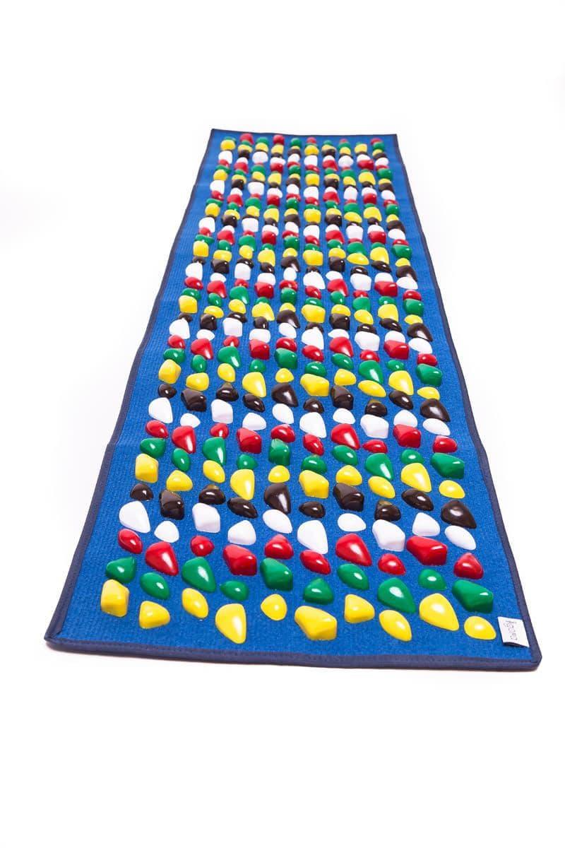 Masāžas paklājiņš ar akmeņiem Igora FOOT MAT 150 x 40 cm Blue