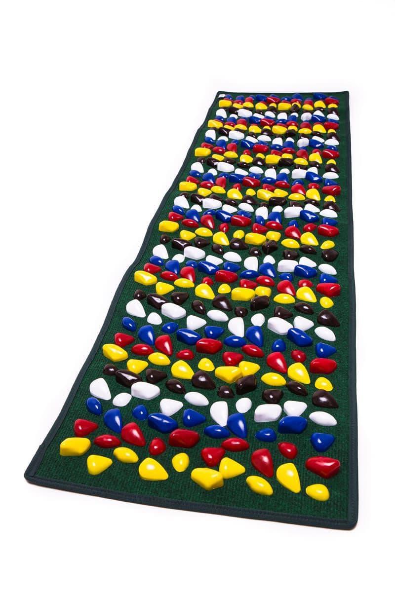 Masāžas paklājiņš ar akmeņiem Igora FOOT MAT 150 x 40 cm Green