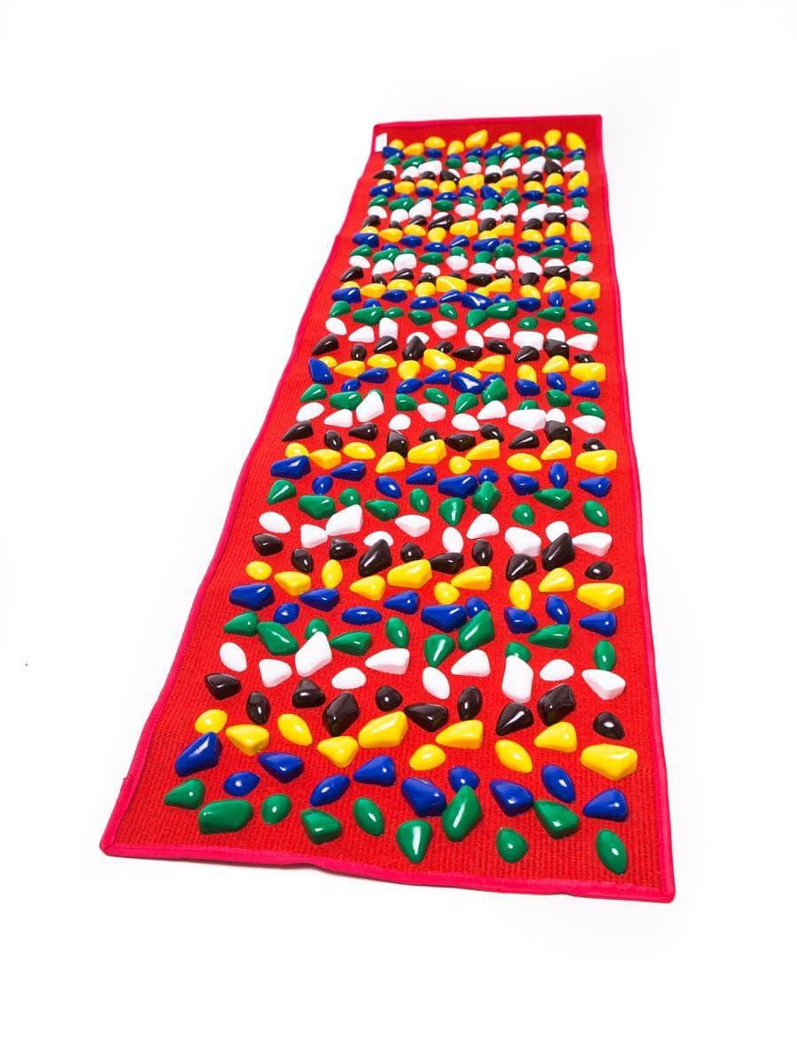 Masāžas paklājiņš ar akmeņiem Igora FOOT MAT 150 x 40 cm Red