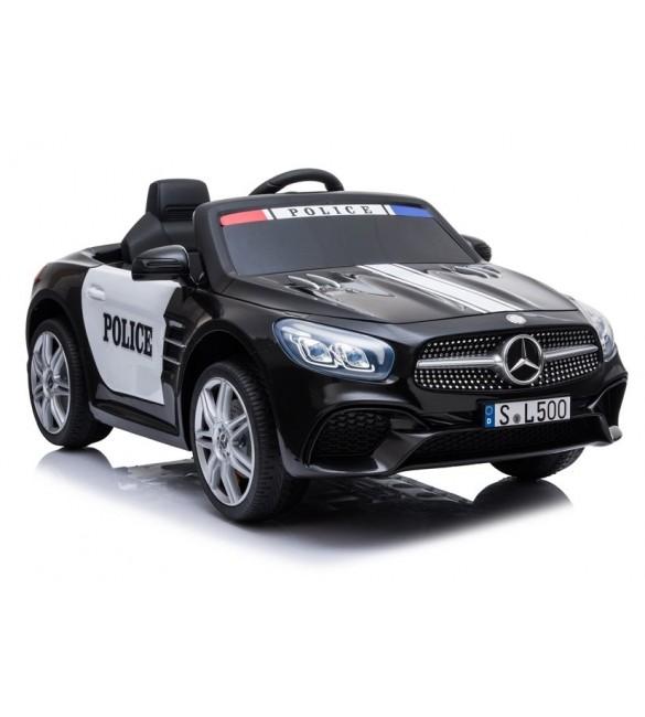 Mašīna ar akumulatoru un pulti Mercedes POLICE SL500 black 4793