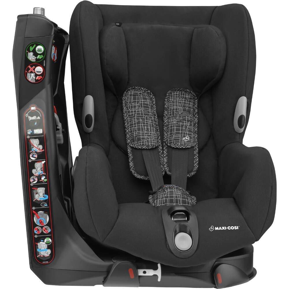 MAXI COSI Axiss Black Grid Bērnu autosēdeklis 9-18 kg