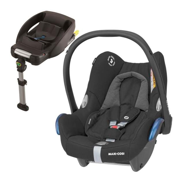 MAXI COSI CABRIOFIX Essential Black Bērnu autosēdeklis 0-13 kg + Familyfix bāze