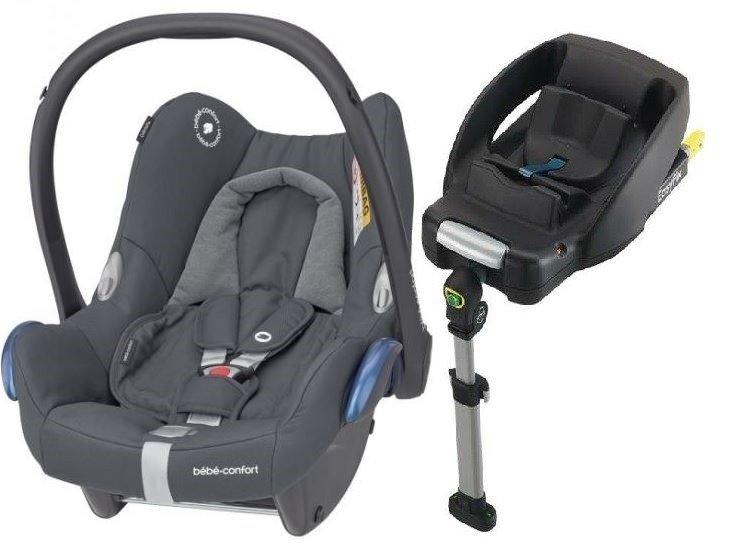 MAXI COSI CABRIOFIX Essential Graphite Bērnu autosēdeklis 0-13 kg + Familyfix bāze