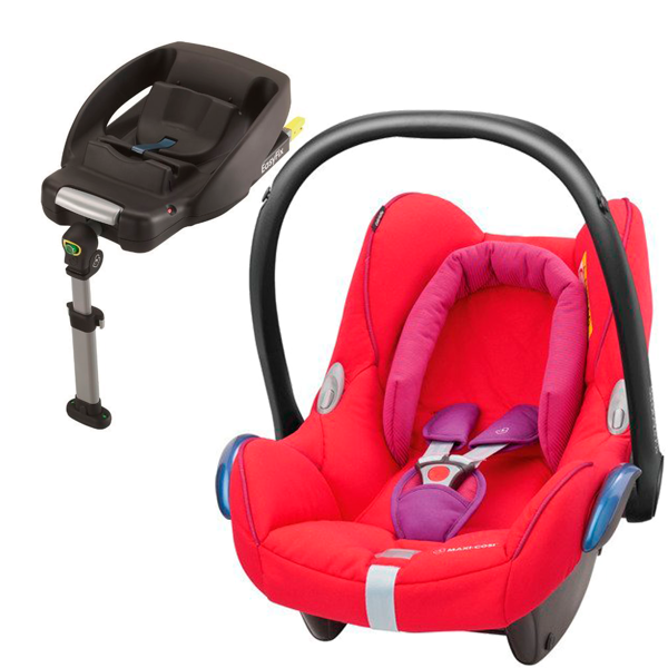 MAXI COSI CABRIOFIX Red Orchid Bērnu autosēdeklis 0-13 kg + Familyfix bāze