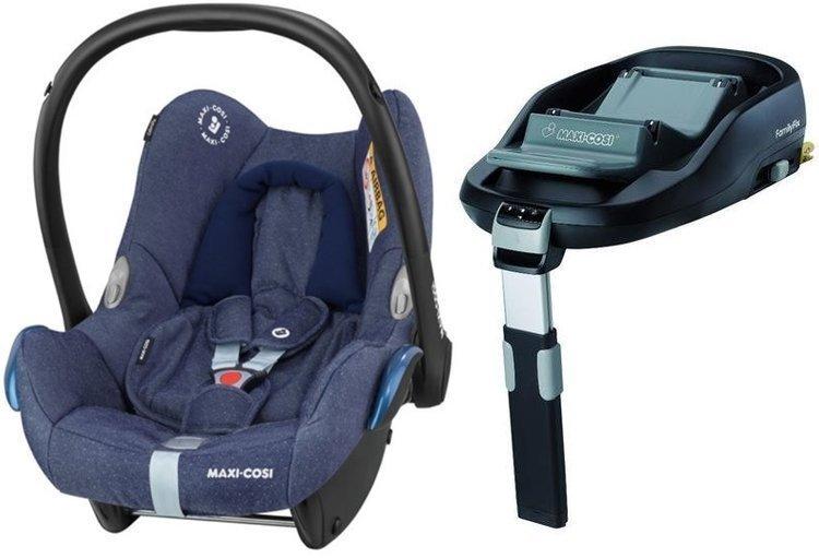 MAXI COSI CABRIOFIX Sparkling Blue Bērnu autosēdeklis 0-13 kg + Familyfix bāze