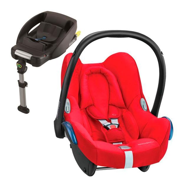 MAXI COSI CABRIOFIX Vivid Red Bērnu autosēdeklis 0-13 kg + Familyfix bāze