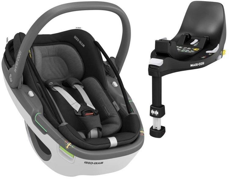 Maxi Cosi Coral 360 Essential black Bērnu autosēdeklis 0-13 kg + Familyfix 360 bāze