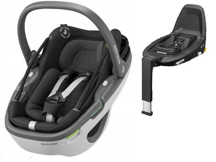 Maxi Cosi Coral Essential black Bērnu autosēdeklis 0-13 kg + FamilyFix3 bāze