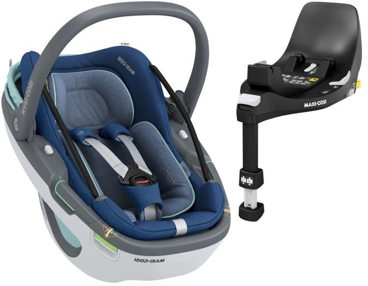 Maxi Cosi Coral 360 Essential blue Bērnu autosēdeklis 0-13 kg + Familyfix 360 bāze