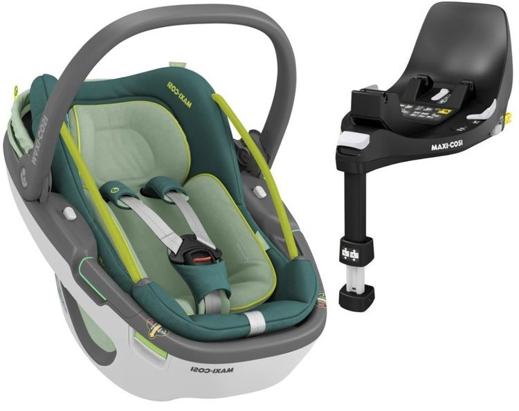 Maxi Cosi Coral 360 Essential green Bērnu autosēdeklis 0-13 kg + Familyfix 360 bāze
